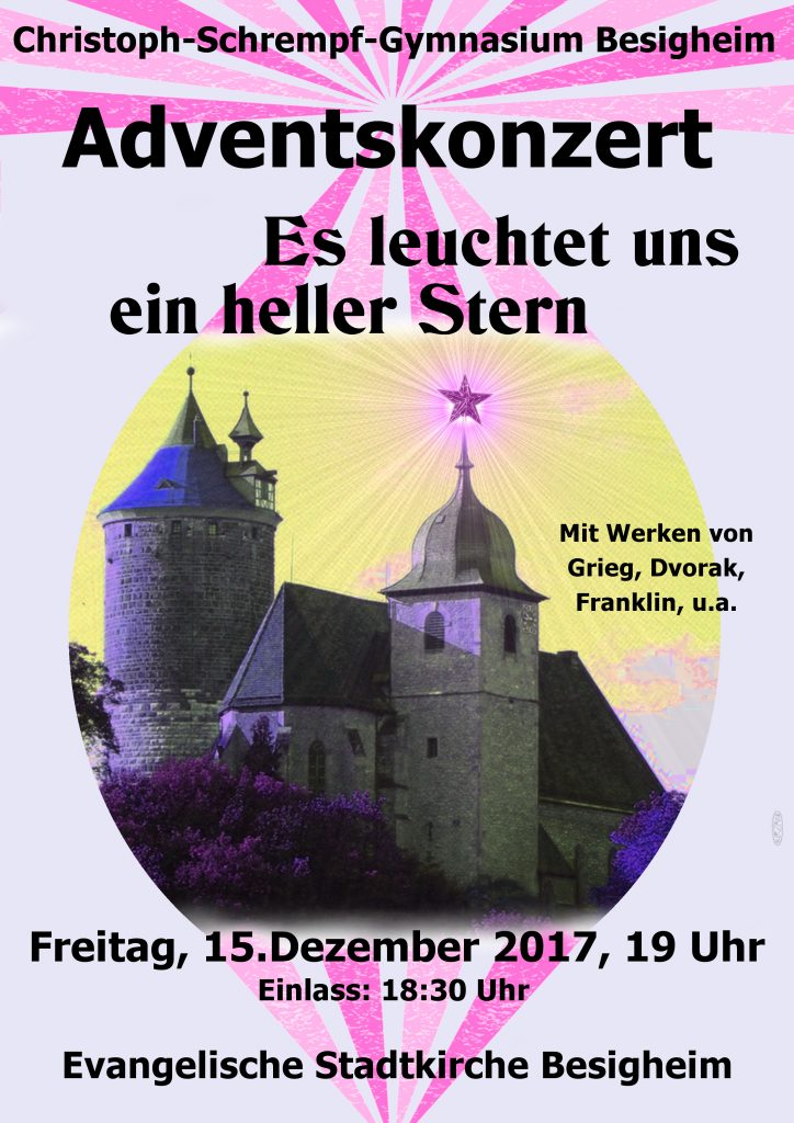 Herzliche Einladung zum Adventskonzert