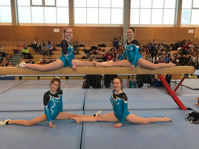 Vier Turnerinnen zeigen tolle Leistungen bei Jugend trainiert für Olympia