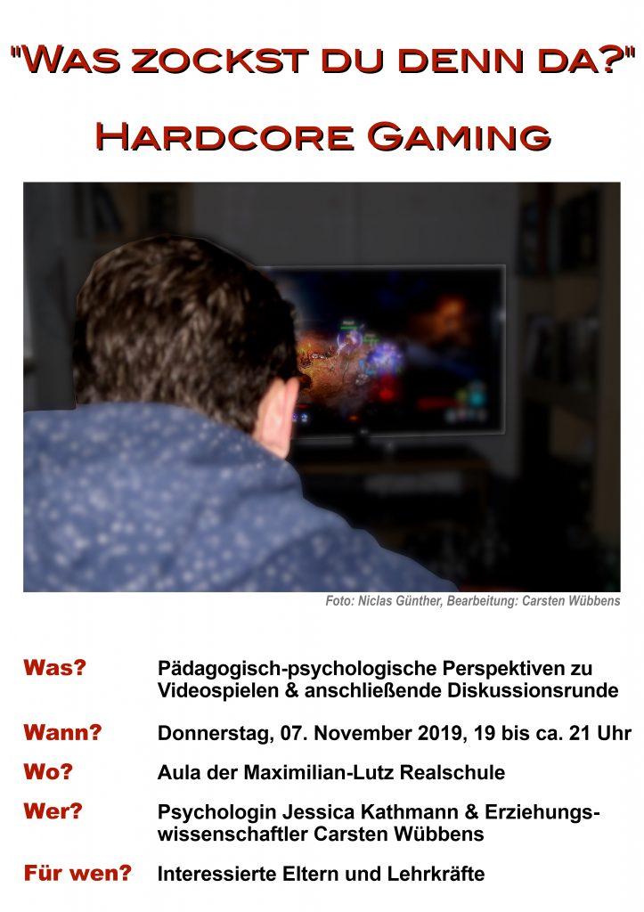 """Einladung zum Themenabend """"Hardcore Gaming"""""""