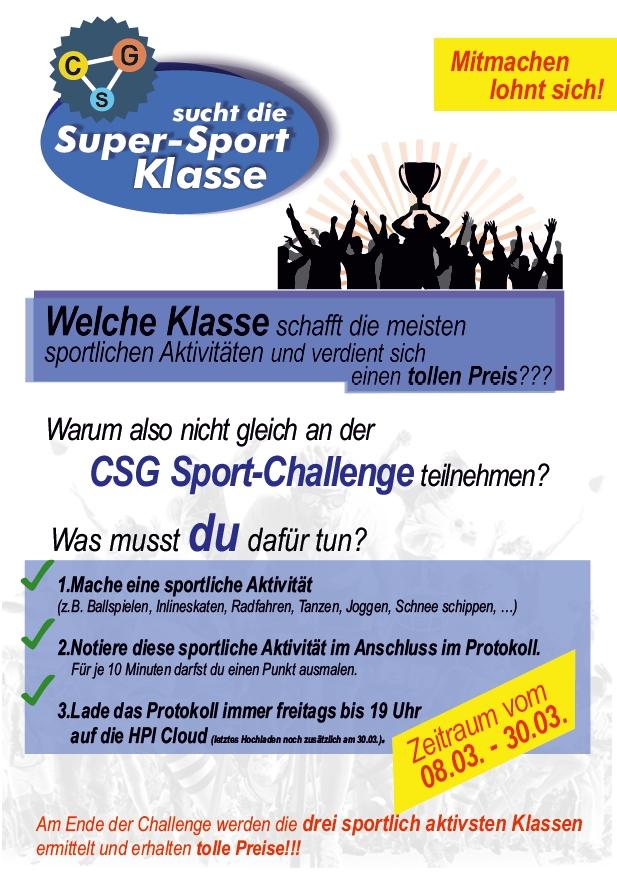 DCSGSDSSK -Das CSG sucht die Super-Sport-Klasse